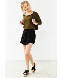 Kimchi Blue Black Hydrangea Mini Skirt