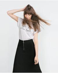 Zara | White Organic Cotton T-shirt | Lyst