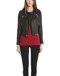 IRO | Black Ashville Leather Jacket | Lyst