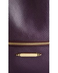 Burberry Purple The Big Crush in Grainy Leather