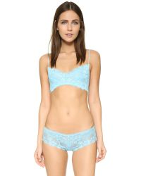 Honeydew Intimates Blue A Getaway Camellia Lace Bralette