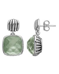 Lord & Taylor | Green Sterling Silver And Quartz Doublet Earrings | Lyst