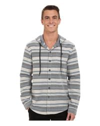 Billabong | Gray Upstate Long Sleeve Hooded Flannel for Men | Lyst