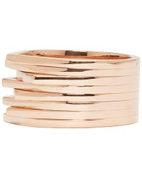 Repossi - Pink Rose Gold Eight_band Antifer Ring - Lyst
