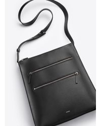 Vince Black Zip Line Medium Messenger