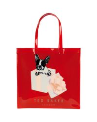 Ted Baker Red Boxcon Graphic Shopper Bag