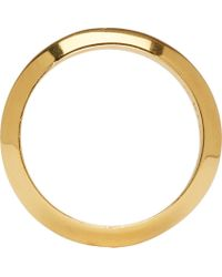 Acne Studios - Metallic Gold Bevelled Ring for Men - Lyst