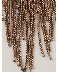 Brunello Cucinelli Brown Hematite Fringe Necklace