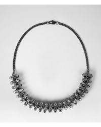 AllSaints | Black Thalia Necklace | Lyst