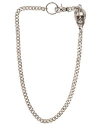 John Richmond | Metallic Metal Skull Charm Pocket Chain | Lyst