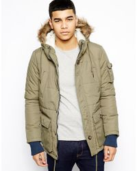 Native Youth Green Arctic Parka Jacket for men
