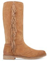 Lucky Brand | Natural Women's Grayer Fringe Boots | Lyst