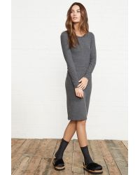 Velvet By Graham & Spencer Gray Akiva Cozy Jersey Knit Dress
