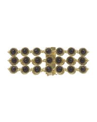 House of Harlow 1960 | Metallic Cuzco Three Row Station Bracelet | Lyst