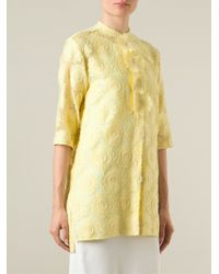 Ermanno Scervino - Yellow Floral Embroidered Shirt - Lyst