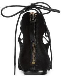 Nine West Black Signmeup Lace-up Flats