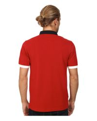 Fred Perry   Red Colour Pop Pique Shirt for Men   Lyst
