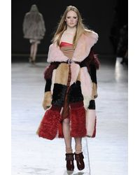 TOPSHOP Multicolor Oversized Shearling Patchwork Coat by Unique