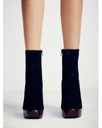 Free People - Black Skyline Platform Ankle Boots - Lyst