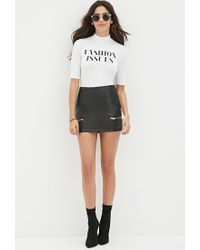 Forever 21 - White Fashion Issues Crop Top - Lyst
