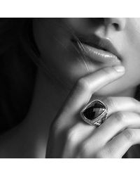 David Yurman - Metallic Albion Ring With Prasiolite And Diamonds - Lyst