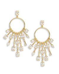 Lauren by Ralph Lauren | Metallic Glittering Stone Chandelier Earrings | Lyst