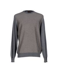 Alpha Massimo Rebecchi Gray Jumper for men
