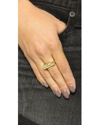 Snash Jewelry Metallic Hot Mess Ring - Gold