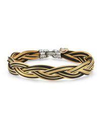 Alor - Metallic Braided Stainless Steel Micro-cable Bracelet - Lyst