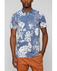 Urban Outfitters | Blue Zanerobe Floral Polo Shirt for Men | Lyst