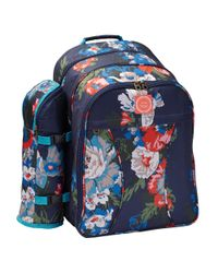 Joules Multicolor Floral Filled Picnic Backpack