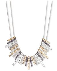 Nine West | Multicolor Multi-tone Glass Crystal Frontal Necklace | Lyst