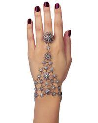 Colette Metallic Stars Hand Bracelet