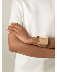 Noritamy - Metallic Large Dented Cuff Bracelet - Lyst