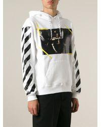 Off-White c/o Virgil Abloh - White Photo Print Striped Sweatshirt for Men - Lyst