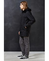 The North Face Black El Misti Hooded Long Parka Jacket for men
