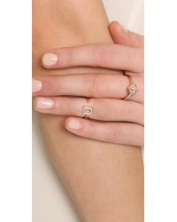 Avec New York U Pave Knuckle / Pinky Ring - Rose Gold/clear