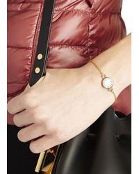 Marc By Marc Jacobs | Metallic Cream Enamel Disc Bracelet | Lyst