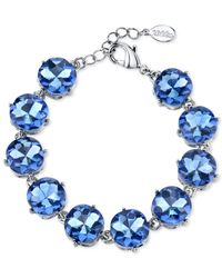 2028 | Silver-tone Blue Faceted Bracelet | Lyst