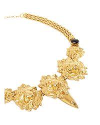 Ela Stone - Metallic Stone Lion Head Necklace - Lyst
