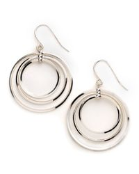 Lauren by Ralph Lauren | Metallic Triple-Circle Earrings | Lyst