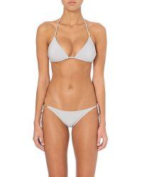 Heidi Klein Metallic St Thomas Self-tie Bikini Top