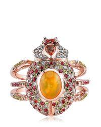 Daniela Villegas - Orange Solaris Ring - Lyst