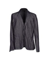 Emporio Armani - Blue Blazer for Men - Lyst