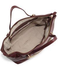 Halston - Purple Leather Satchel Bag - Lyst