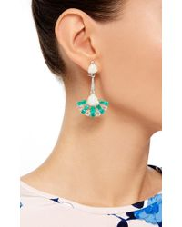 Sutra - Green Emerald And Opal Drop Earrings - Lyst