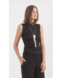 Erin Considine - Metallic Rail Shag Necklace - Lyst