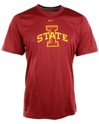 Nike - Red Men's Short-sleeve Iowa State Cyclones Dri-fit T-shirt for Men - Lyst
