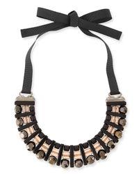 Marina Rinaldi - Black Lodevole Horseshoe Bib Necklace - Lyst