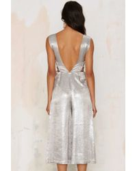 Nasty Gal | J.o.aShimmer Of Hope Metallic Jumpsuit | Lyst